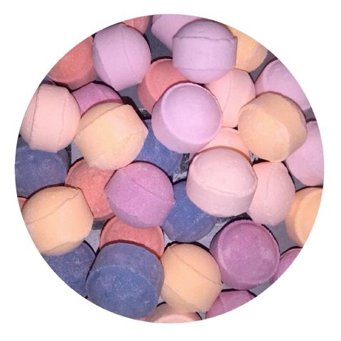 30 x Random Scented Mini Bath Marbles Fizzers - Bath Bubble & Beyond 10g Each
